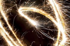 Sparkler. Abstract patterns made by a sparkler Stock Photos