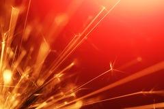 Sparkler abstracto Imagen de archivo libre de regalías