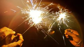 Sparkler. Amazing sparkler is tha most used firework used in Diwali Festival specially by kids stock photography