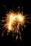 sparkler anglais de lettre d'alphabet Image libre de droits
