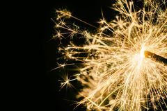 Sparkler as background on the theme of New Year`s Eve royalty free stock photos