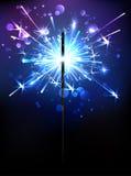 Sparkler azul Foto de Stock Royalty Free