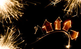 Sparkler background Royalty Free Stock Photography
