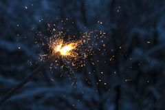 Sparkler. Beautiful fireworks. March 8 and international women`s day. stock images