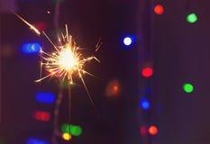 sparkler Bengal brand i parti, firar Födelsedag Arkivfoton