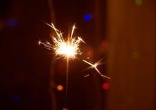 sparkler Bengal brand i parti, firar Födelsedag Fotografering för Bildbyråer