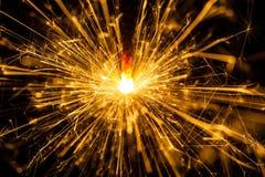 Sparkler brûlant de Noël Images stock