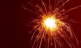 Sparkler. Celebridad del Año Nuevo Imágenes de archivo libres de regalías