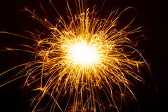 Sparkler. Celebridad del Año Nuevo Fotos de archivo libres de regalías