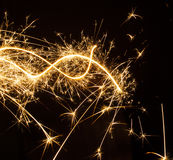 Sparkler in Christmas Royalty Free Stock Photos