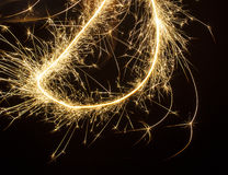 Sparkler in Christmas Royalty Free Stock Images