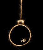 Sparkler christmas ball Stock Images