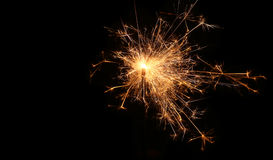 Sparkler. Christmas and newyear party sparkler on Stock Photo