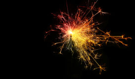 Sparkler. Christmas and newyear party sparkler on Royalty Free Stock Photo