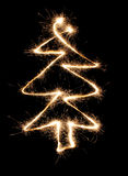 Sparkler christmas tree Stock Image