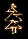 Sparkler christmas tree Stock Image