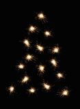 Sparkler christmas tree stock photography