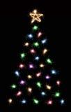 Sparkler christmas tree Stock Photography