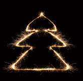 Sparkler christmas tree 2 Stock Image
