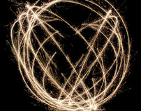 Sparkler Circle as background Royalty Free Stock Image