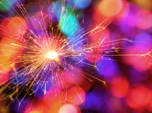Sparkler Color Bokeh Background Royalty Free Stock Photos