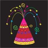 Sparkler Colourful Fotografia Stock Libera da Diritti