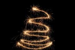 sparkler czarny drzewo Obrazy Royalty Free