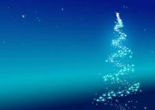 Sparkler da árvore de Natal Imagem de Stock Royalty Free