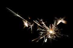 Sparkler. In the dark and black room Royalty Free Stock Photo