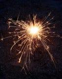 Sparkler de Bengala de los fuegos artificiales Imágenes de archivo libres de regalías