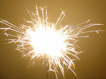 Sparkler de feux d'artifice Photos stock