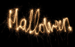Sparkler de Halloween Fotos de Stock Royalty Free