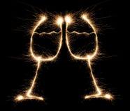 sparkler de la Barbilla-barbilla Fotos de archivo libres de regalías