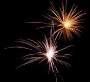 Sparkler de los fuegos artificiales Imagen de archivo libre de regalías