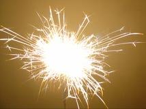 Sparkler de los fuegos artificiales Fotos de archivo