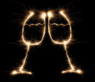 sparkler de Menton-menton photos libres de droits