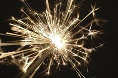 Sparkler de oro Foto de archivo libre de regalías