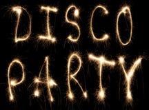 Sparkler de réception de disco Images libres de droits