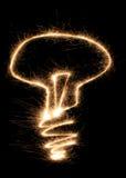 Sparkler della lampada Fotografia Stock