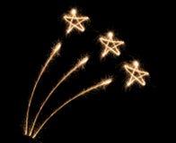 Sparkler do fogo-de-artifício Imagem de Stock Royalty Free