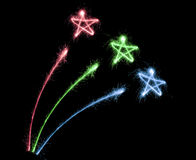 Sparkler do fogo-de-artifício da cor Fotografia de Stock