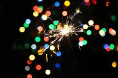 Sparkler do Natal Imagem de Stock Royalty Free