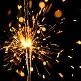 Sparkler do Natal Fotografia de Stock