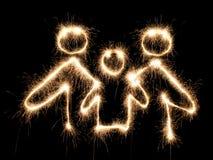 Sparkler do símbolo da família Imagem de Stock