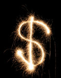 Sparkler dollar Stock Images