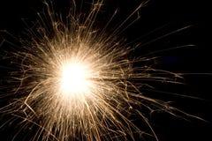 Sparkler en fondo negro Imagen de archivo