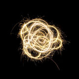 Sparkler-Feuerwerke Stockfotografie