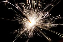 Sparkler, Fireworks, Explosive Material, New Year's Eve Royalty Free Stock Photography