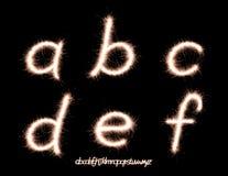 Sparkler font Royalty Free Stock Images