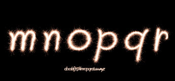 Sparkler font Stock Photo